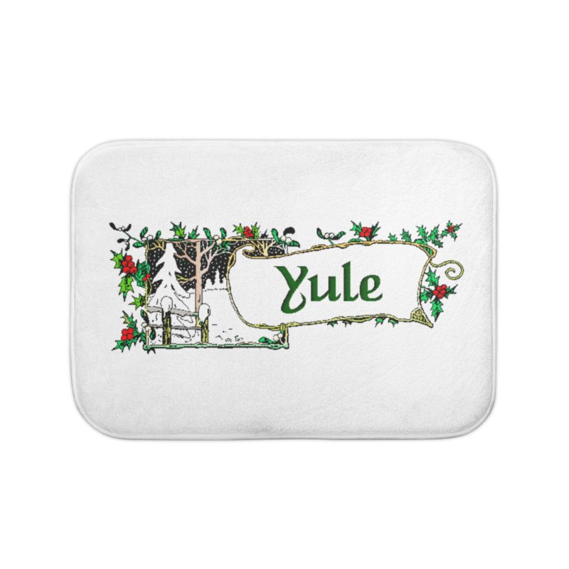 Yule Home Bath Mat by The Ways of The Old's Artist Shop