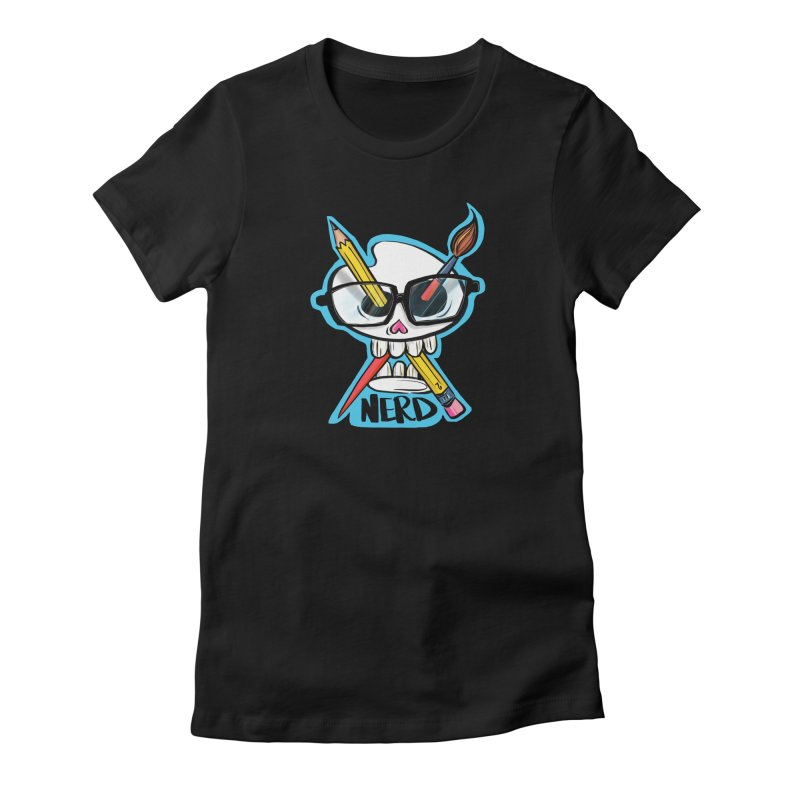 art nerd Women's Fitted T-Shirt by thewendylady's Artist Shop