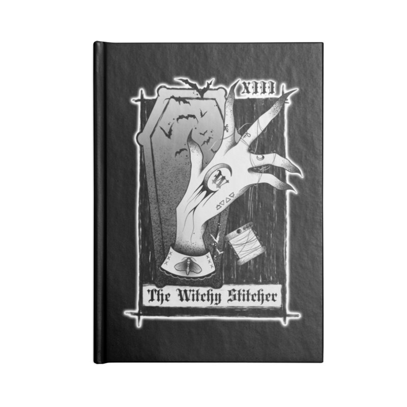 Witchy Stitcher Logo Apparel Accessories Notebook by The Witchy Stitcher's Artist Shop