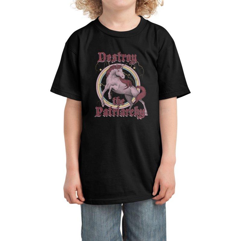 Destroy the Patriarchy Kids T-Shirt by Thiago Corrêa