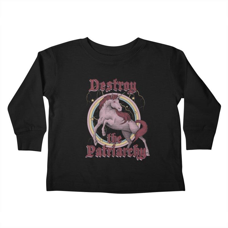 Destroy the Patriarchy Kids Toddler Longsleeve T-Shirt by Thiago Corrêa