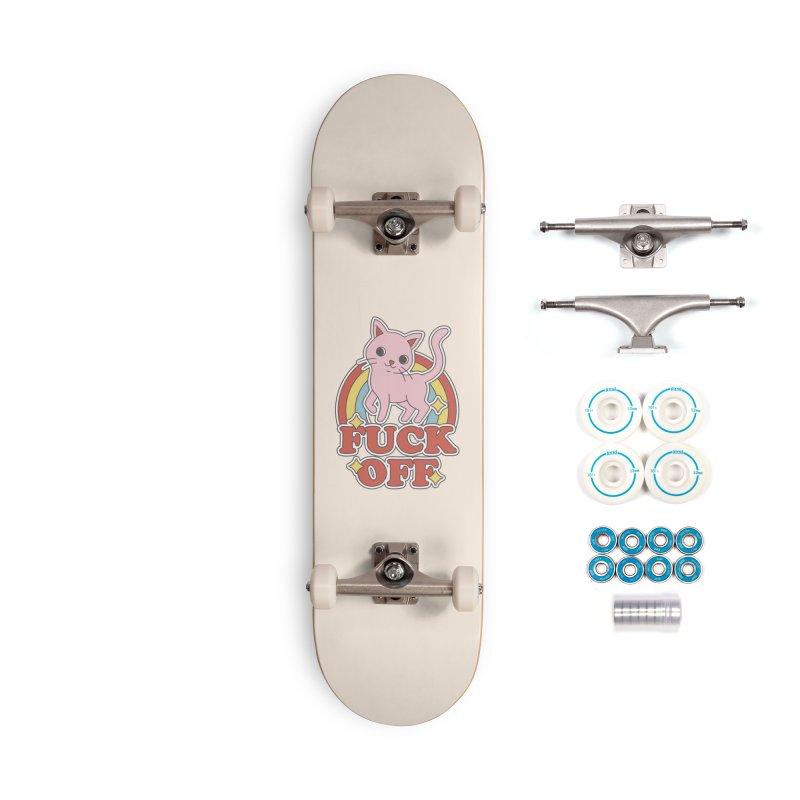 Fuck Off Accessories Skateboard by Thiago Corrêa
