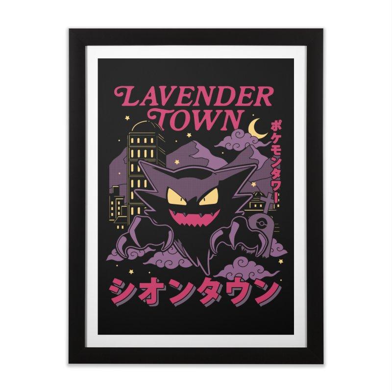 Lavender Town Home Framed Fine Art Print by Thiago Corrêa