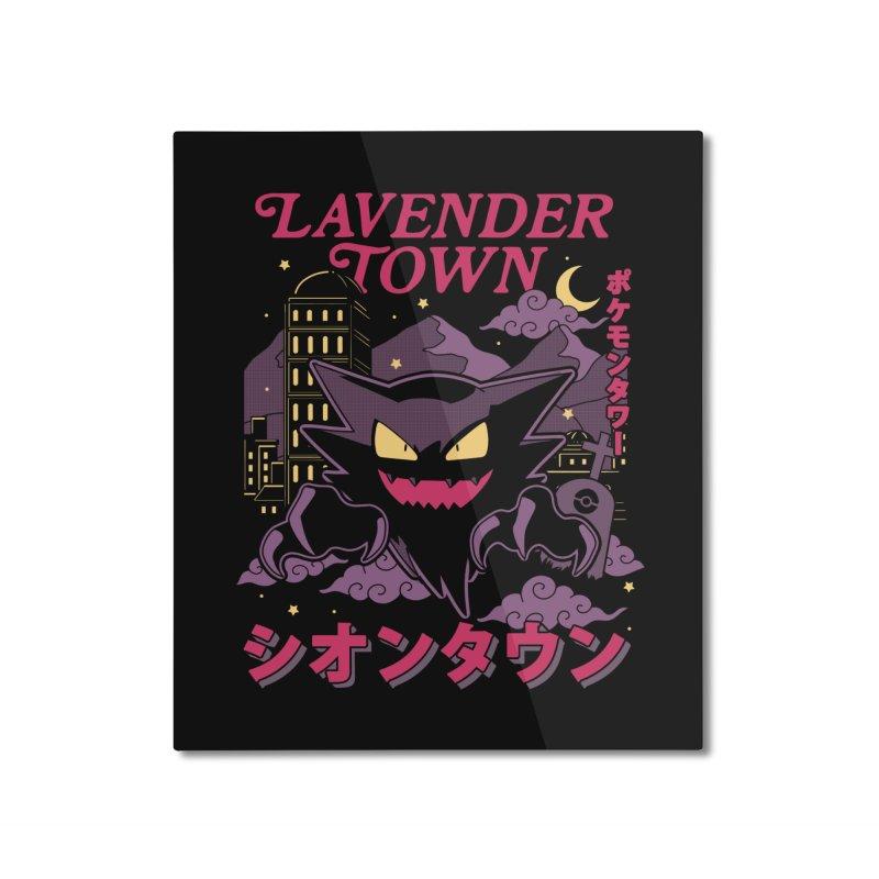 Lavender Town Home Mounted Aluminum Print by Thiago Corrêa