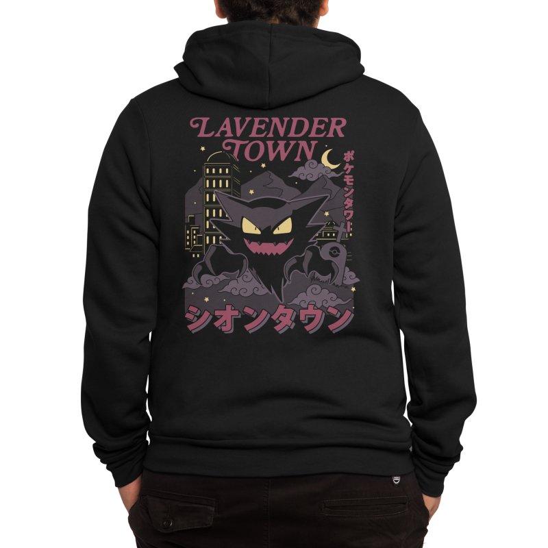 Lavender Town Men's Zip-Up Hoody by thiagocorreamellado's Artist Shop