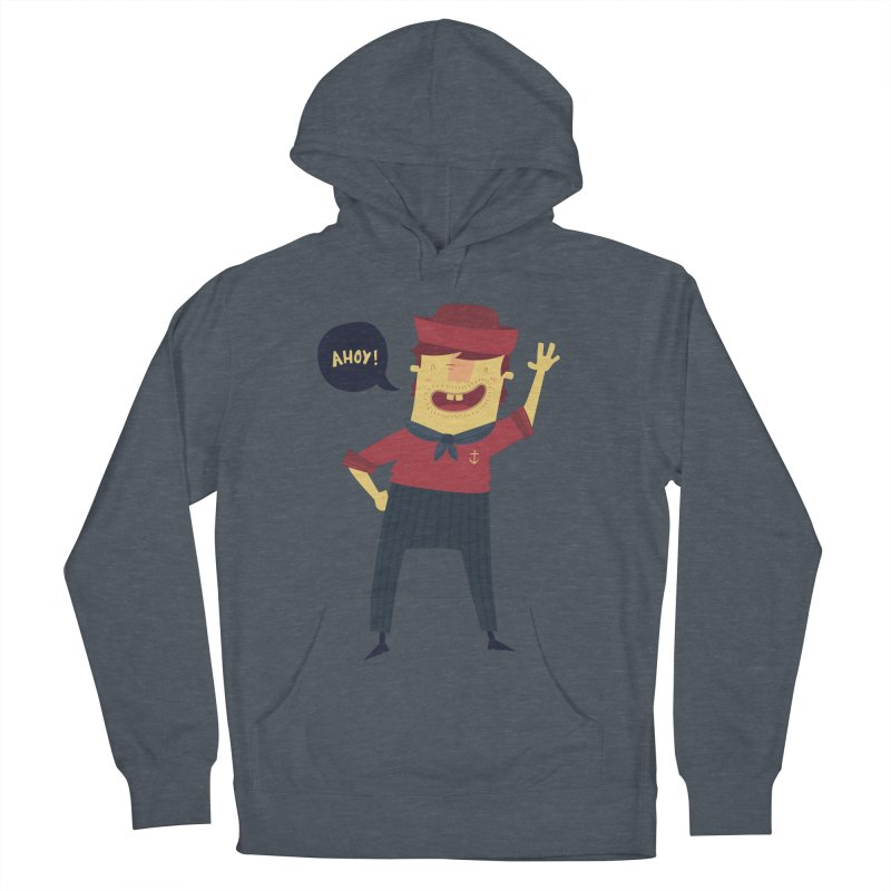 Ahoy! Men's French Terry Pullover Hoody by thiagoegg's Artist Shop