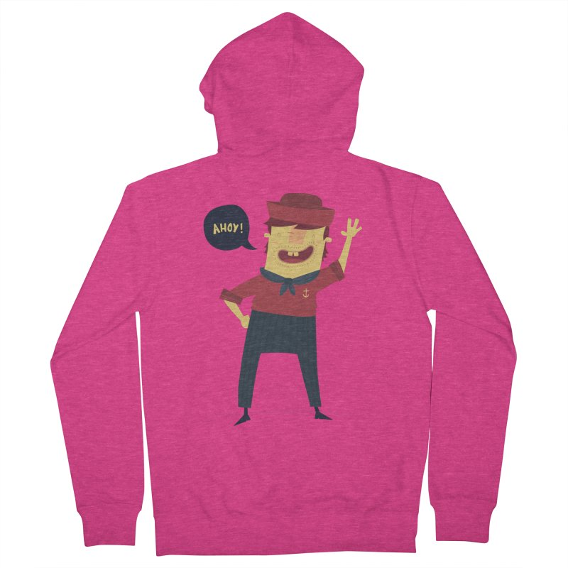 Ahoy! Women's French Terry Zip-Up Hoody by thiagoegg's Artist Shop