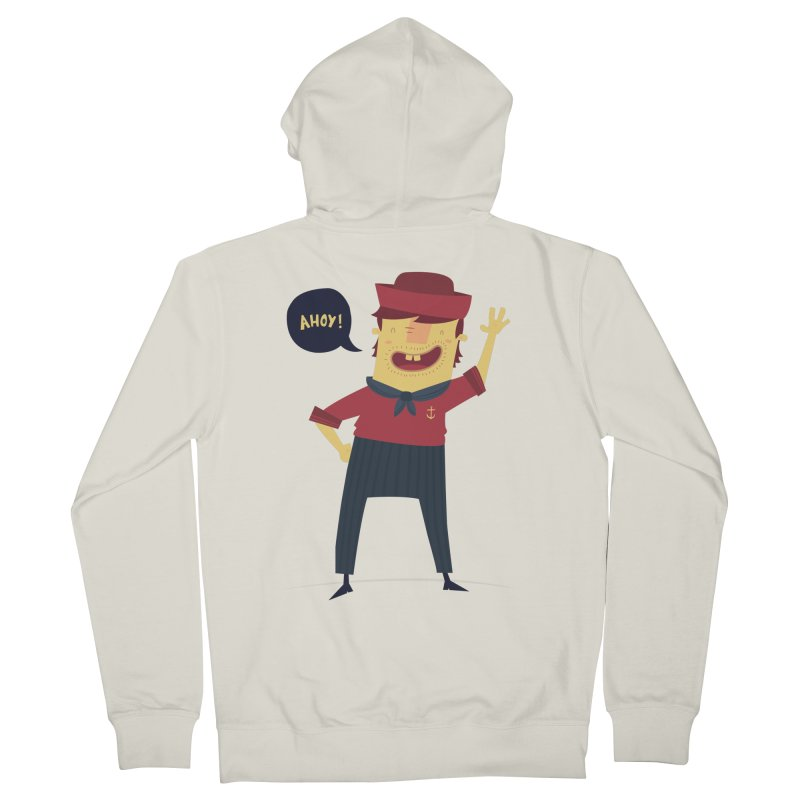 Ahoy! Men's French Terry Zip-Up Hoody by thiagoegg's Artist Shop