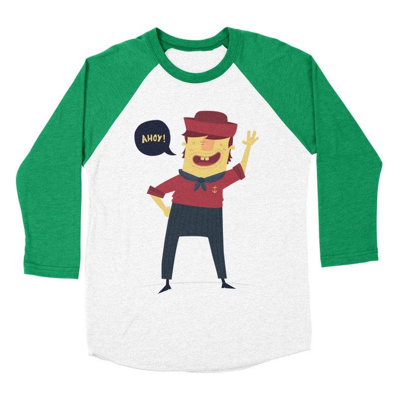 Ahoy! Men's Baseball Triblend T-Shirt by thiagoegg's Artist Shop