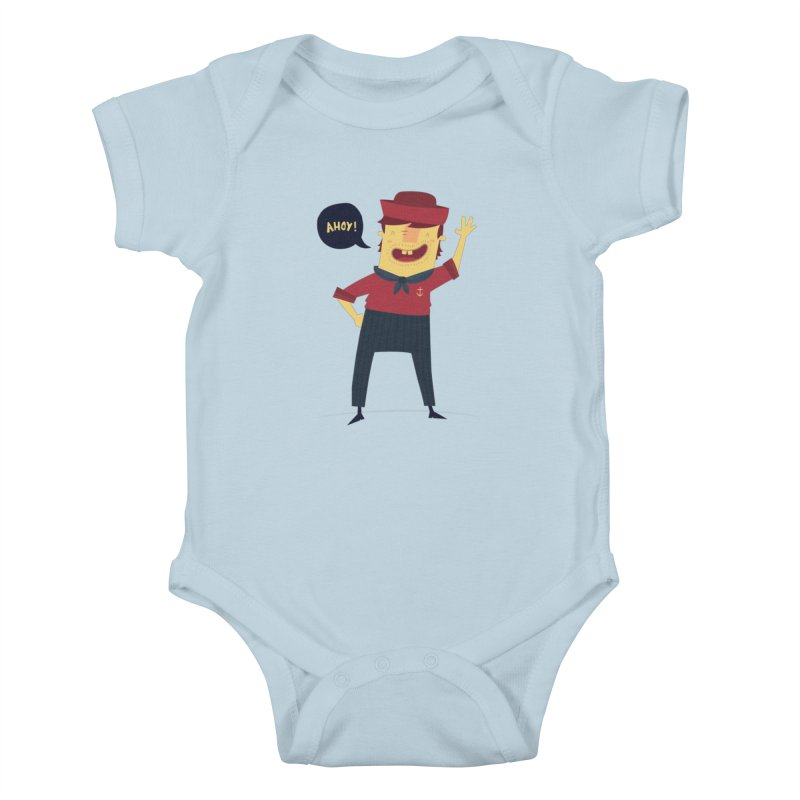 Ahoy! Kids Baby Bodysuit by thiagoegg's Artist Shop