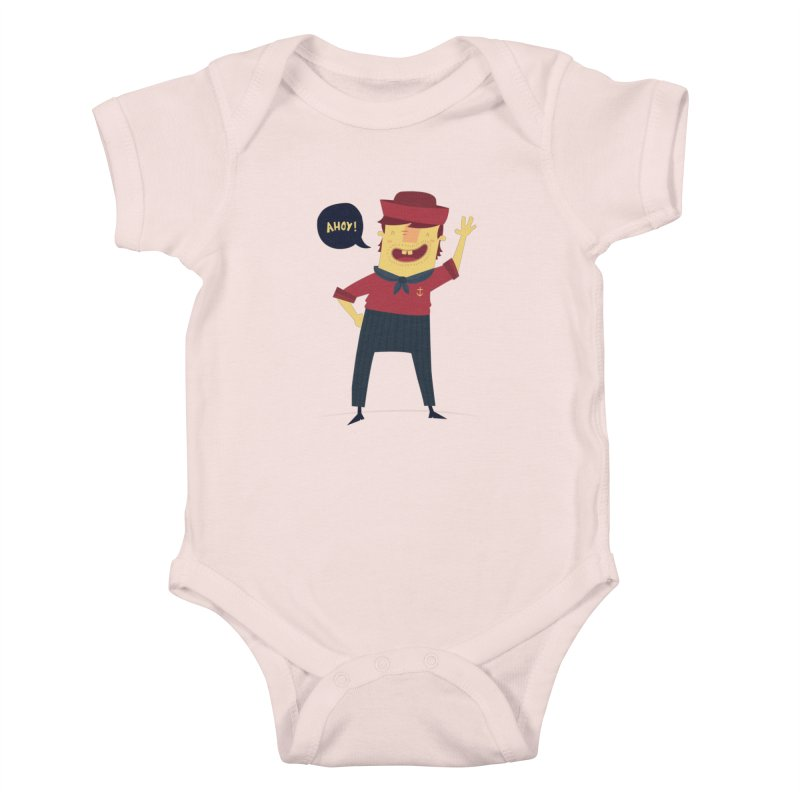 Ahoy! Kids Baby Bodysuit by thiagoegg's Artist Shop