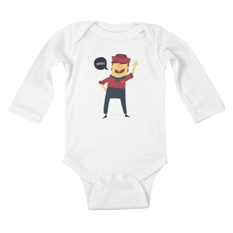 Ahoy! Kids Baby Longsleeve Bodysuit by thiagoegg's Artist Shop