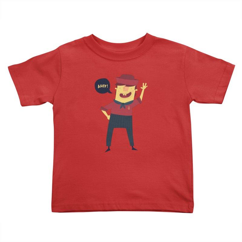 Ahoy! Kids Toddler T-Shirt by thiagoegg's Artist Shop