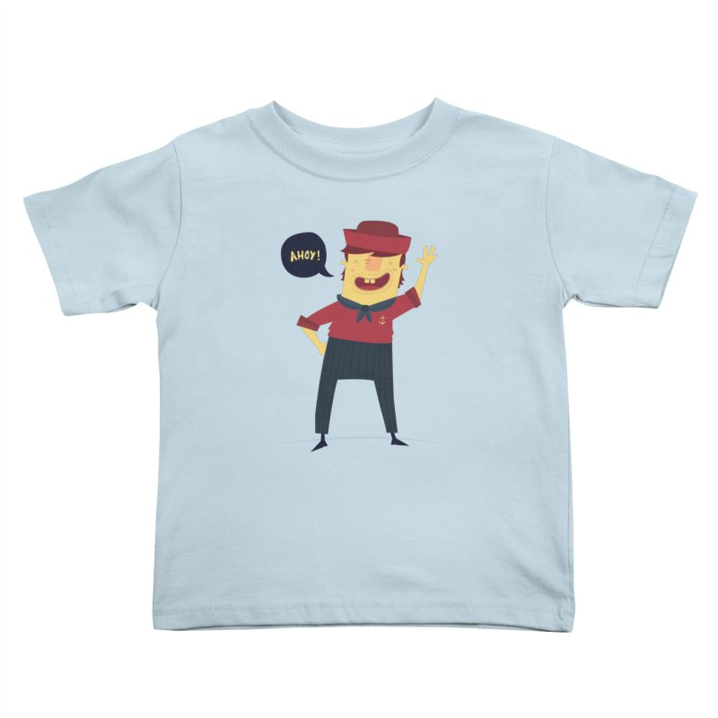 Ahoy! Kids Toddler T-Shirt by thiagoegg's Artist Shop