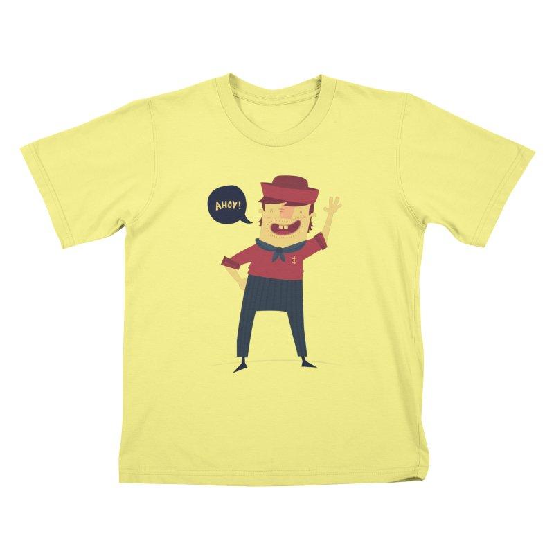 Ahoy! Kids T-shirt by thiagoegg's Artist Shop