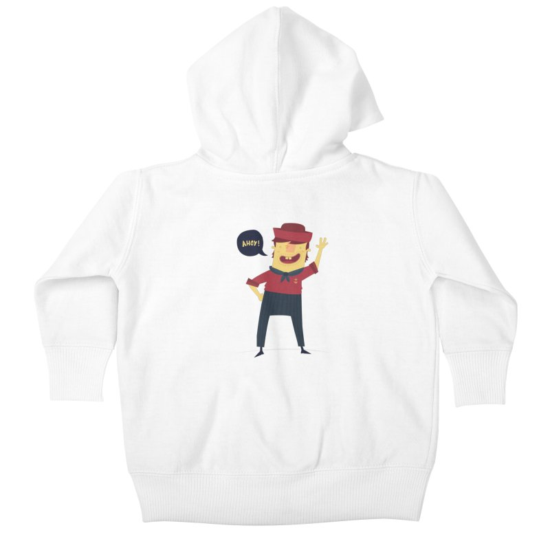 Ahoy! Kids Baby Zip-Up Hoody by thiagoegg's Artist Shop