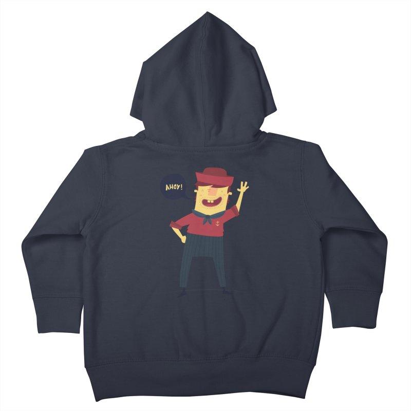 Ahoy! Kids Toddler Zip-Up Hoody by thiagoegg's Artist Shop