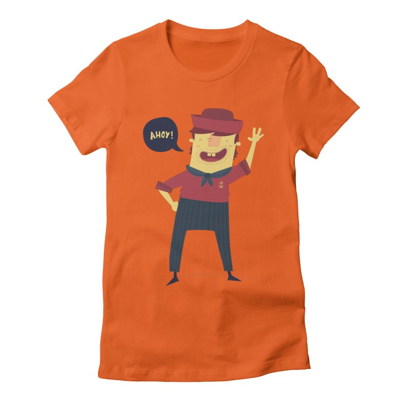 Ahoy! Women's Fitted T-Shirt by thiagoegg's Artist Shop
