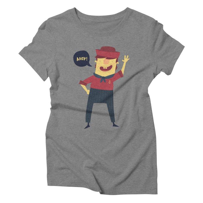 Ahoy! Women's Triblend T-Shirt by thiagoegg's Artist Shop