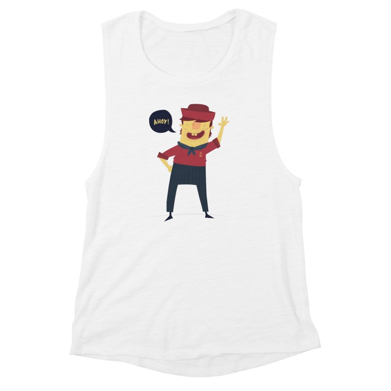 Ahoy! Women's Muscle Tank by thiagoegg's Artist Shop