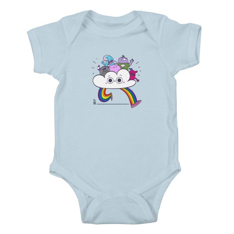 Cloud of diversity Kids Baby Bodysuit by thiagoegg's Artist Shop