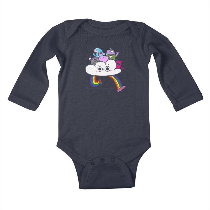 Cloud of diversity Kids Baby Longsleeve Bodysuit by thiagoegg's Artist Shop