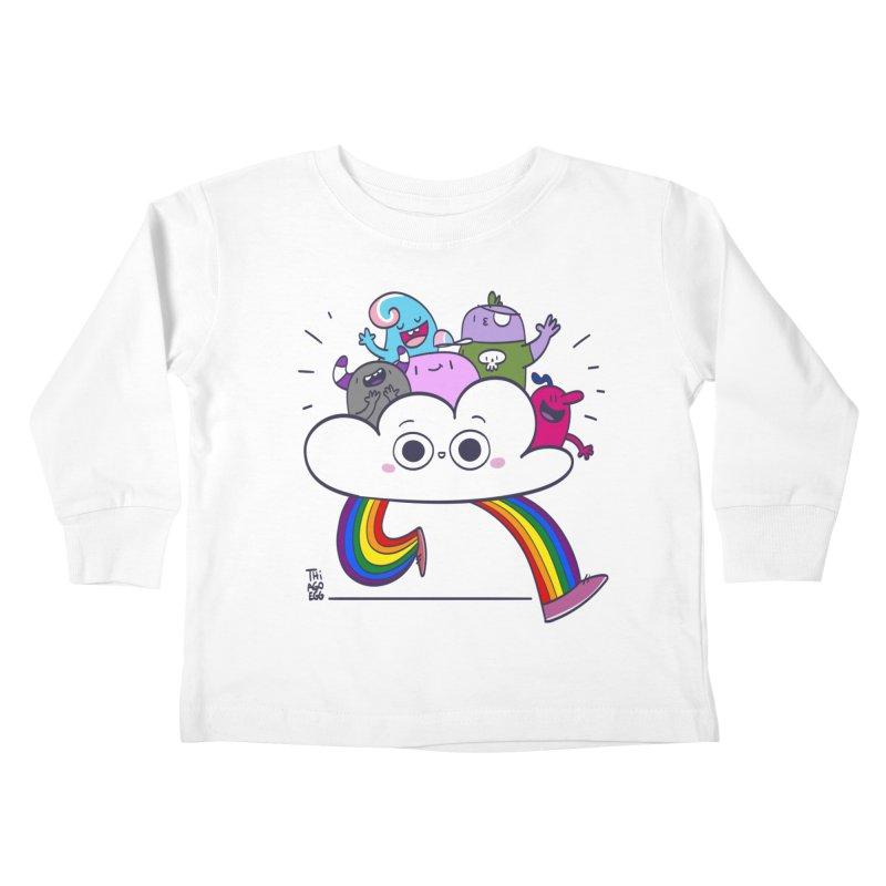 Cloud of diversity Kids Toddler Longsleeve T-Shirt by thiagoegg's Artist Shop