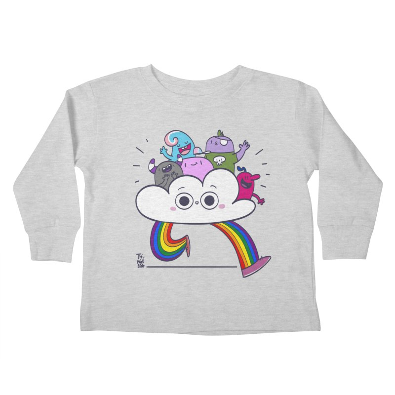 Cloud of diversity Kids Toddler Longsleeve T-Shirt by thiagoegg's Artist Shop