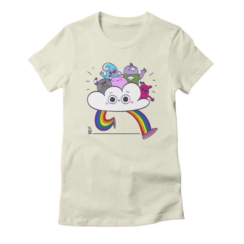 Cloud of diversity Women's Fitted T-Shirt by thiagoegg's Artist Shop