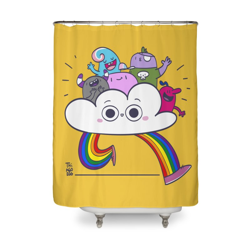 Cloud of diversity Home Shower Curtain by thiagoegg's Artist Shop