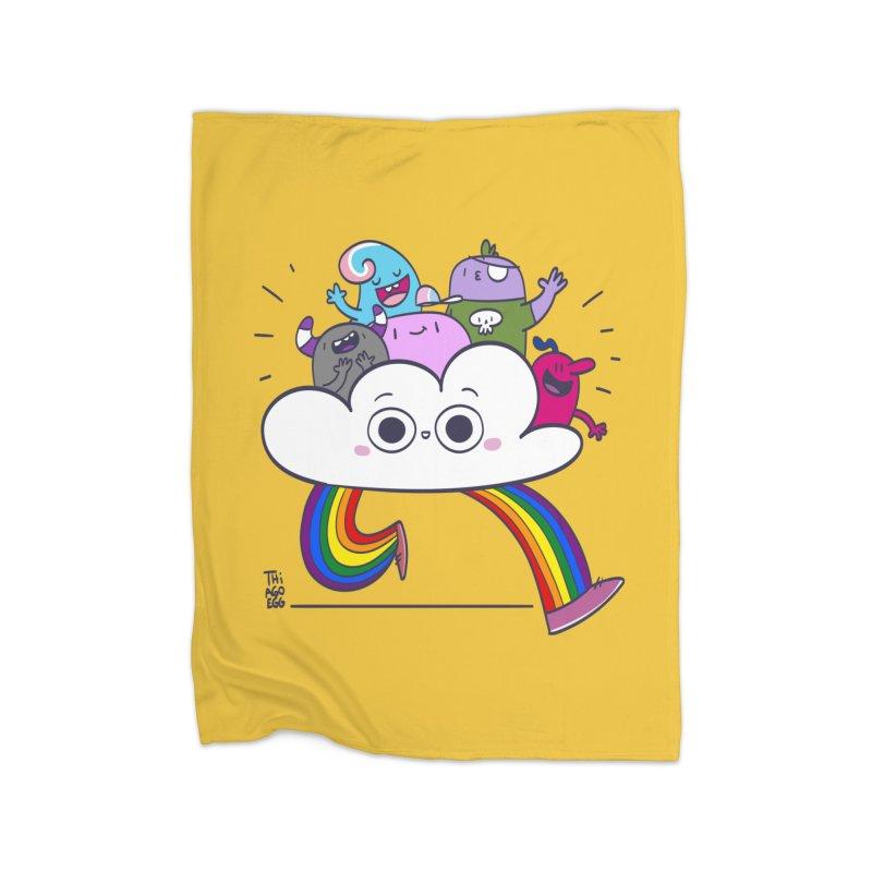 Cloud of diversity Home Fleece Blanket Blanket by thiagoegg's Artist Shop