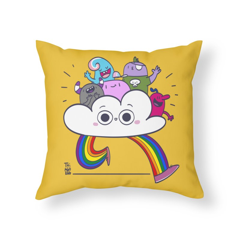 Cloud of diversity Home Throw Pillow by thiagoegg's Artist Shop