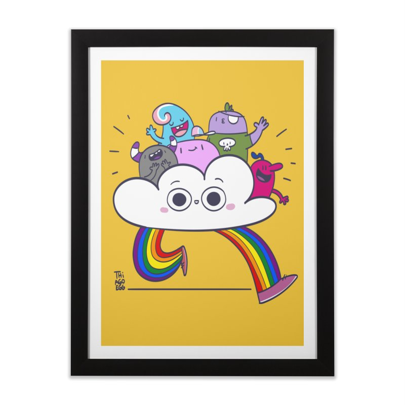 Cloud of diversity Home Framed Fine Art Print by thiagoegg's Artist Shop