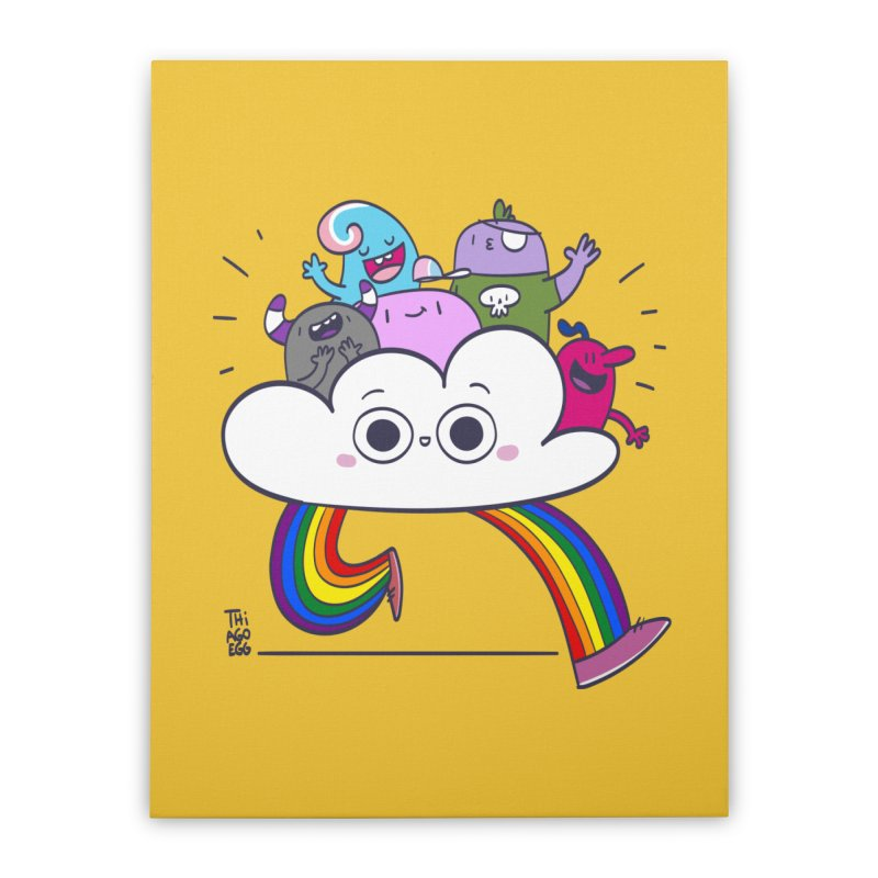 Cloud of diversity Home Stretched Canvas by thiagoegg's Artist Shop