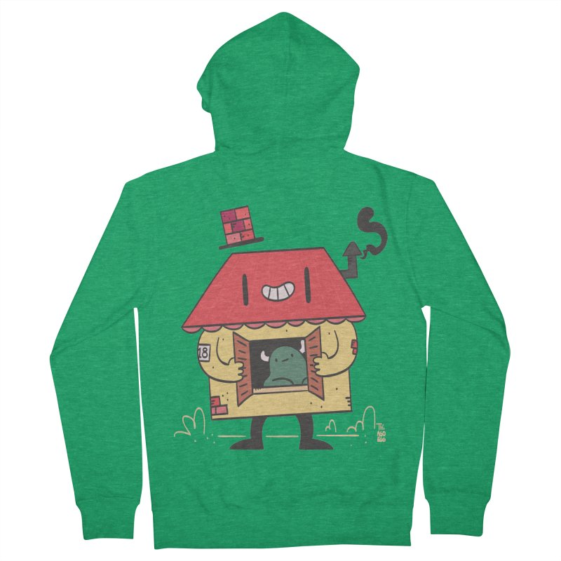 Casinha Men's French Terry Zip-Up Hoody by thiagoegg's Artist Shop