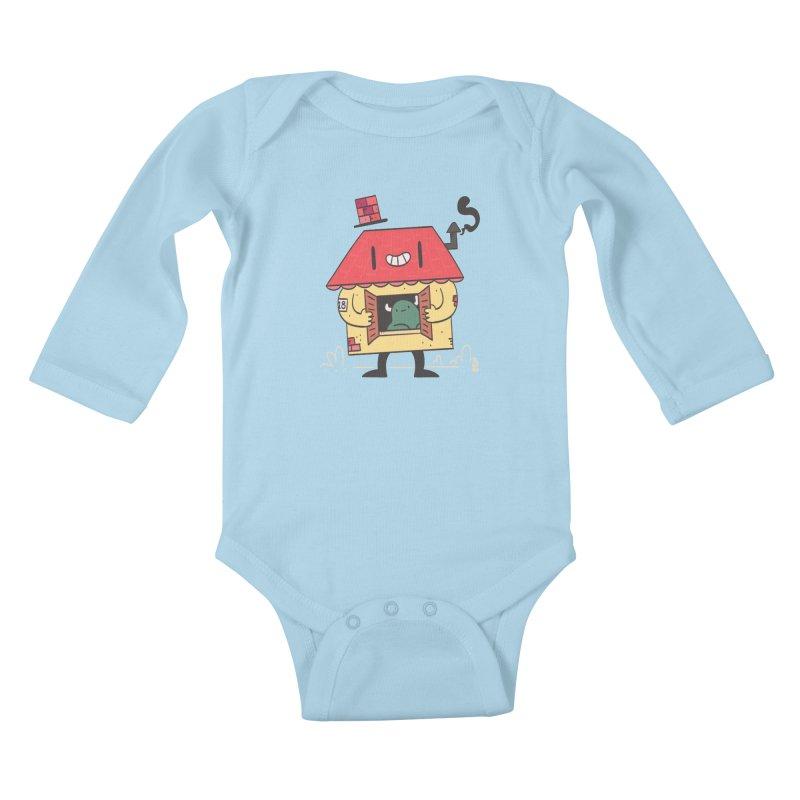 Casinha Kids Baby Longsleeve Bodysuit by thiagoegg's Artist Shop