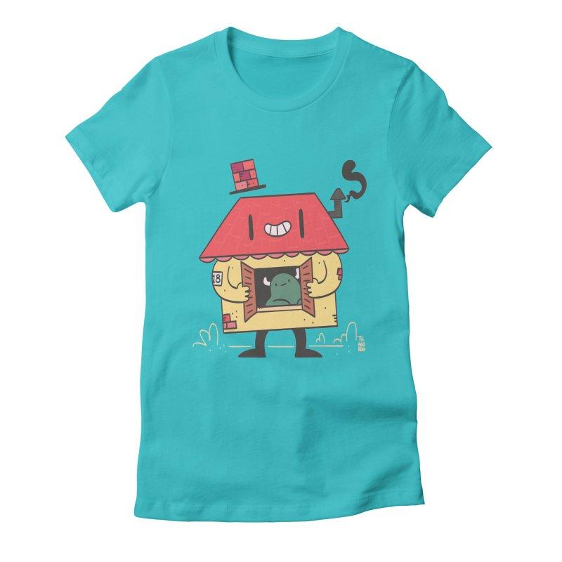 Casinha Women's Fitted T-Shirt by thiagoegg's Artist Shop