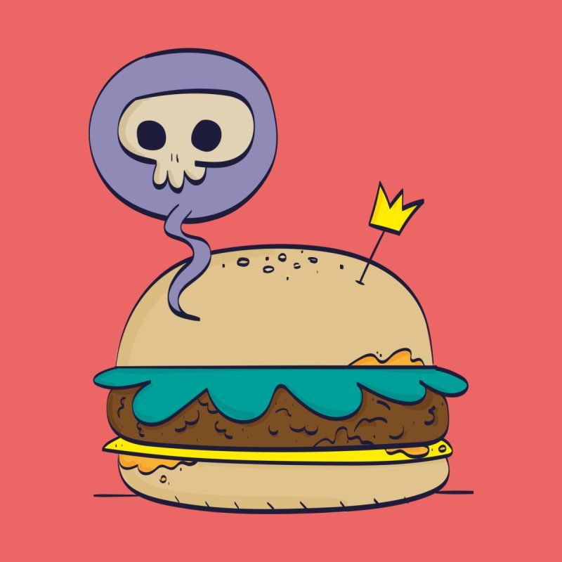 Death Burger Men's T-Shirt by thiagoegg's Artist Shop