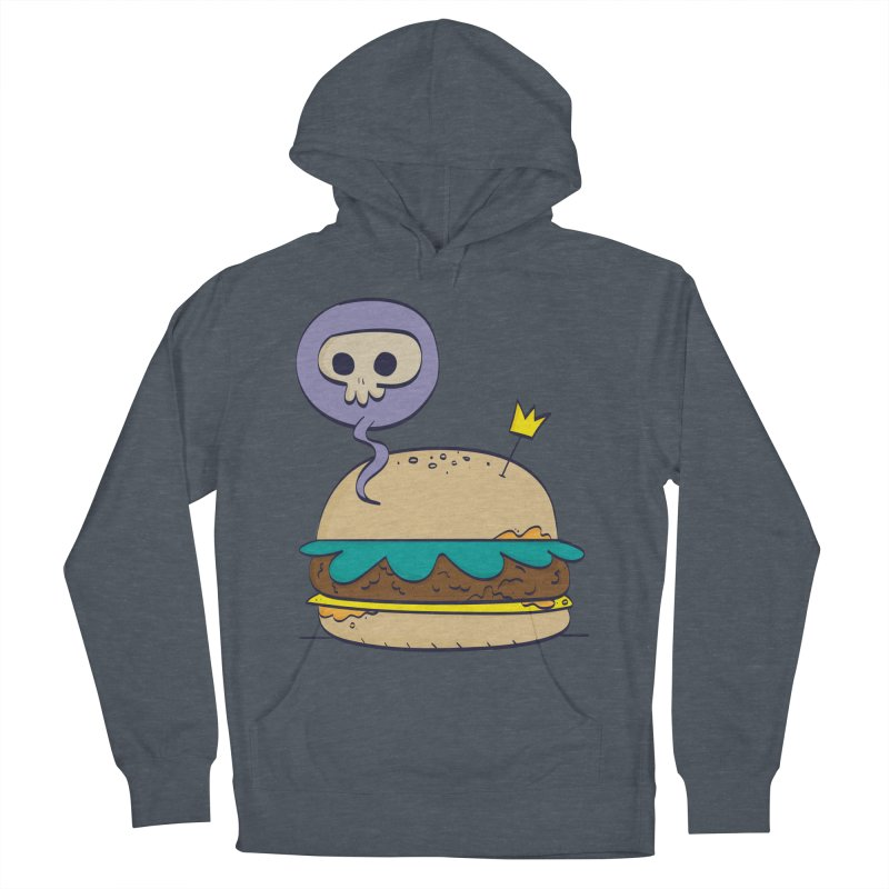 Death Burger Women's French Terry Pullover Hoody by thiagoegg's Artist Shop