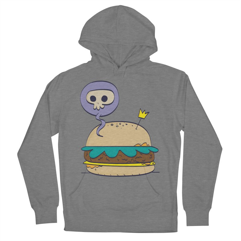 Death Burger Men's French Terry Pullover Hoody by thiagoegg's Artist Shop
