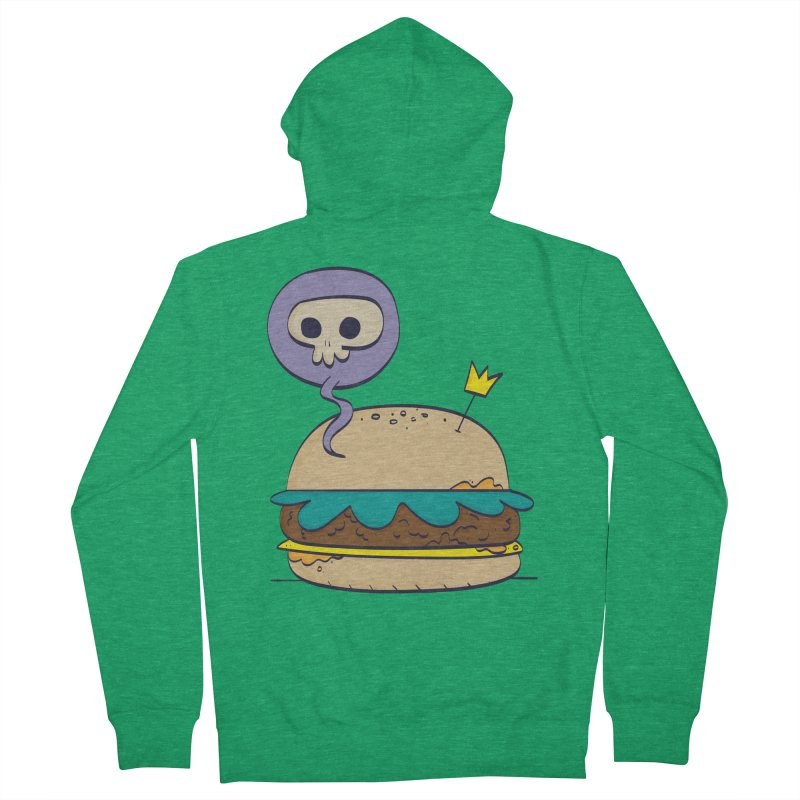 Death Burger Women's Zip-Up Hoody by thiagoegg's Artist Shop