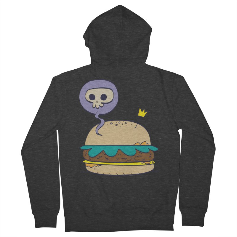Death Burger Women's French Terry Zip-Up Hoody by thiagoegg's Artist Shop