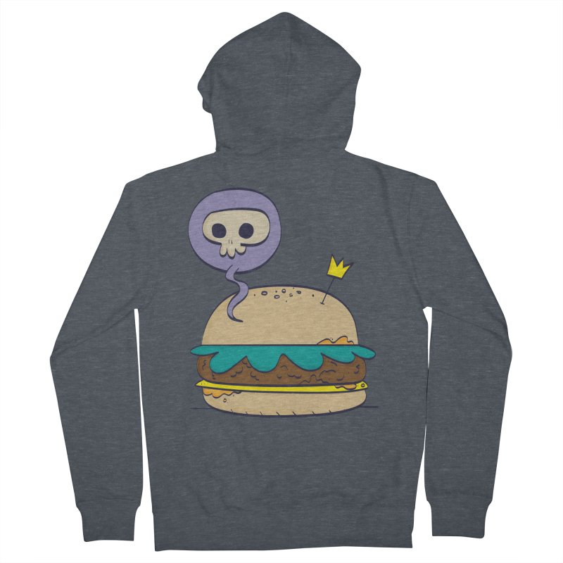 Death Burger Men's French Terry Zip-Up Hoody by thiagoegg's Artist Shop
