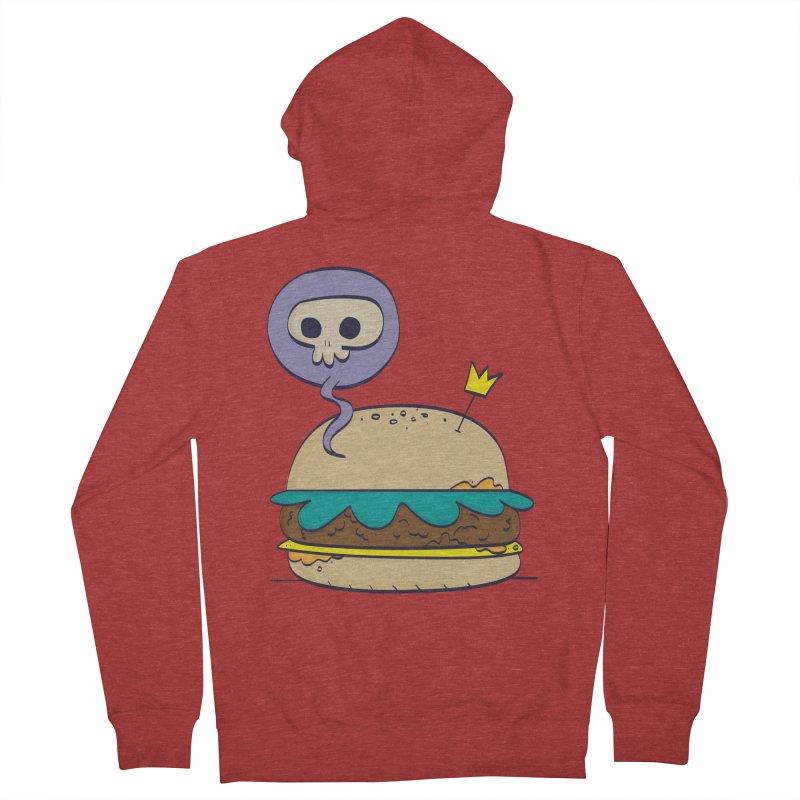 Death Burger Men's Zip-Up Hoody by thiagoegg's Artist Shop