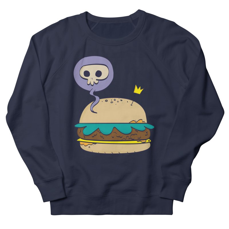 Death Burger Women's French Terry Sweatshirt by thiagoegg's Artist Shop