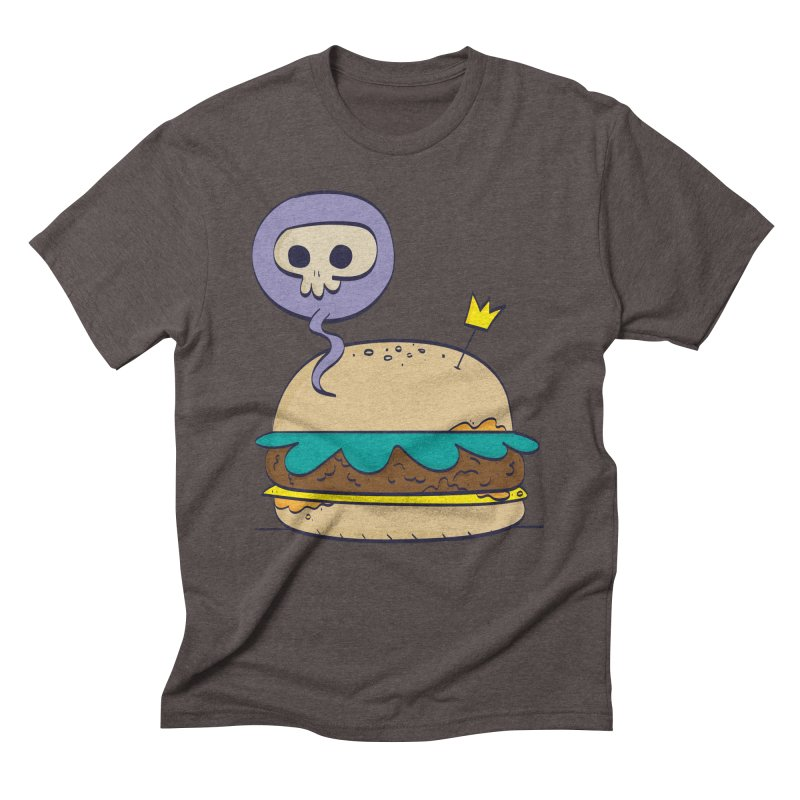 Death Burger Men's Triblend T-Shirt by thiagoegg's Artist Shop