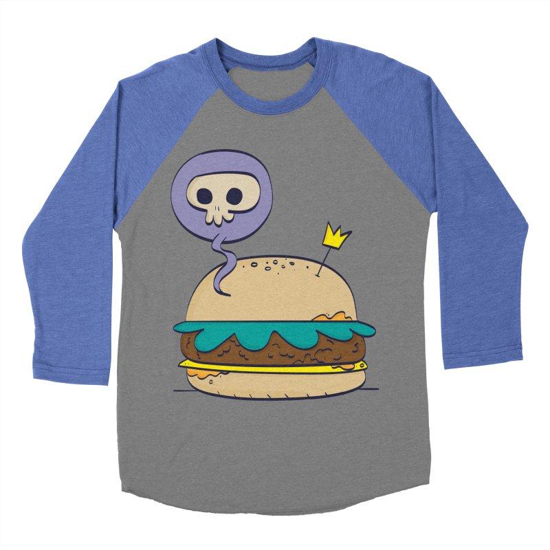 Death Burger Men's Baseball Triblend Longsleeve T-Shirt by thiagoegg's Artist Shop