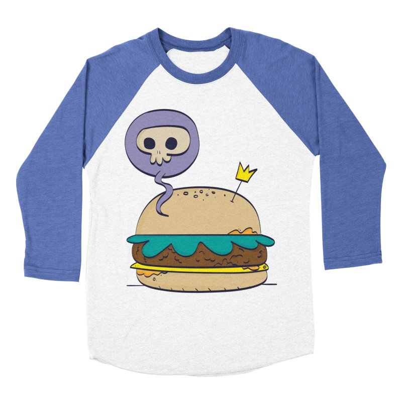 Death Burger Men's Baseball Triblend T-Shirt by thiagoegg's Artist Shop