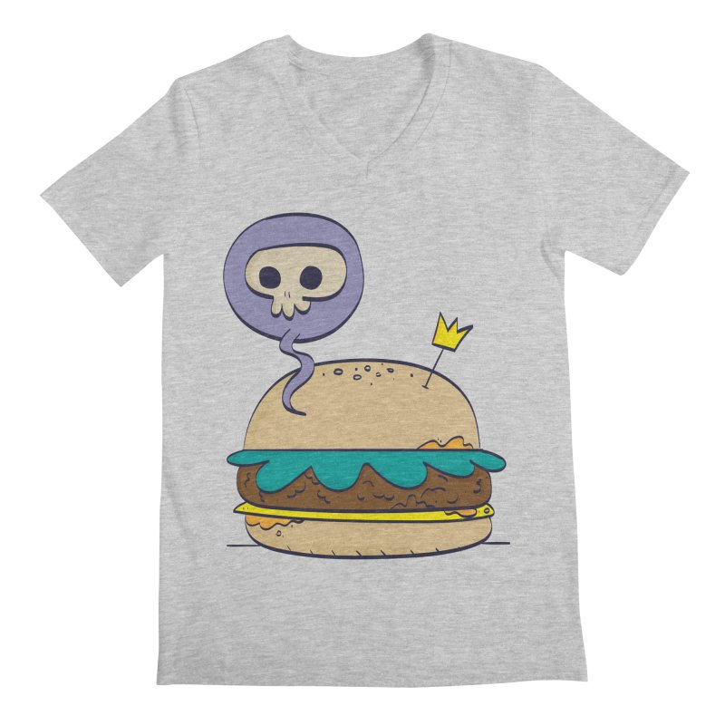 Death Burger Men's V-Neck by thiagoegg's Artist Shop