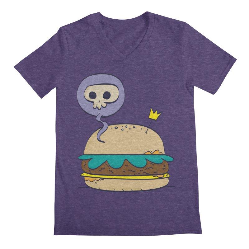 Death Burger Men's Regular V-Neck by thiagoegg's Artist Shop